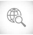 World scan black icon vector image