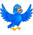 happy blue bird vector image