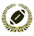 arch of leaves with football ball vector image