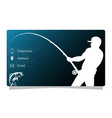 business card fishing vector image