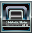 Set of Shiny Metallic Styles for Design vector image