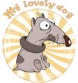 Dog Badge Cartoon vector image