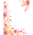 floral background with ornamen vector image vector image