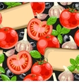 Tomato and cheese seamless vector image