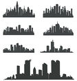 Modern City Panorama with Skyscraper vector image