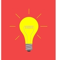 light bulb icon on red idea concept vector image vector image