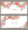 lovely collection horizontal banners with vintage vector image vector image