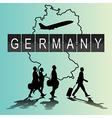 Silhouette people on germany digital board vector image