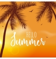 Hello Summer Lettering vacation and travel vector image