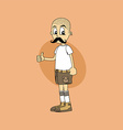 male cartoon character thumb up gesture vector image