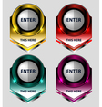 banners buttons design vector image