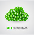 binary big data cloud concept vector image