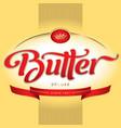 Butter packaging design vector image