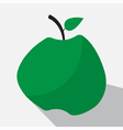 green apple and long shadow vector image
