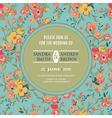 square card with circle and floral background vector image
