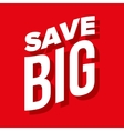 Save Big lettering vector image