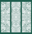 creative vertical flyers white blue pattern vector image