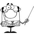 Cartoon teacher in class vector image