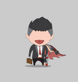 cartoon a happy face businessman a concept vector image