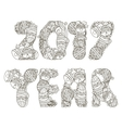 2017 year inscription coloring vector image
