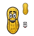 Happy little cartoon peanut or ground nut vector image