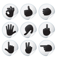 stickers with human hand signs vector image vector image