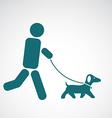 image of an walking dog vector image