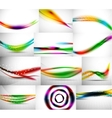Wave backgrounds set abstract vector image vector image