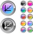 Positive trend multicolor round button vector image vector image