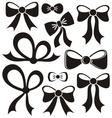 Black bows vector image