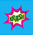 comic speech bubble krash vector image