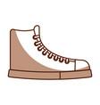 cute shadow boot cartoon vector image