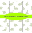 Dinosaurs Set of seamless backgrounds vector image