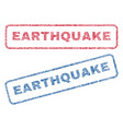 earthquake textile stamps vector image