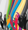 hands in the air vector image