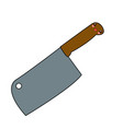 kawaii axe for meat kitchen object cartoon vector image
