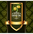 luxury golden decorative design with olive vector image