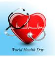 stethoscope medical equipment heart shape vector image