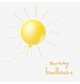 Sunny balloon vector image