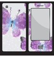 Design for a mobile phone with buttrfly vector image vector image