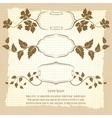 Vintage frame design with floral branches vector image