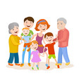 cute cartoon family in colorful stylish clothes vector image vector image