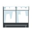 modern bus stop urban infrastructure element vector image