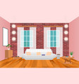 living room interior in hipster style with frame vector image