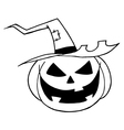 Halloween cartoon vector image vector image