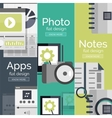 Set of flat design mobility concepts vector image vector image