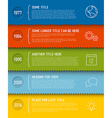 Modern infographic timeline report template vector image vector image