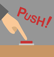 Push button vector image