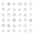Thin Line Web Icons vector image vector image