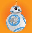 Blue BB8 Droid Robot vector image